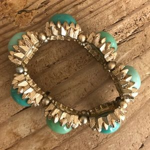 Turquoise and gold Anthropologie bracelet!